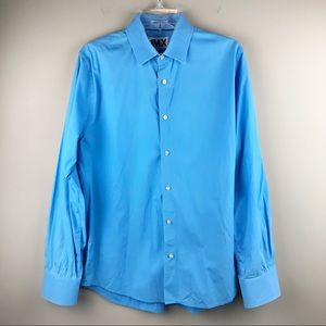 Express extra slim fit button down